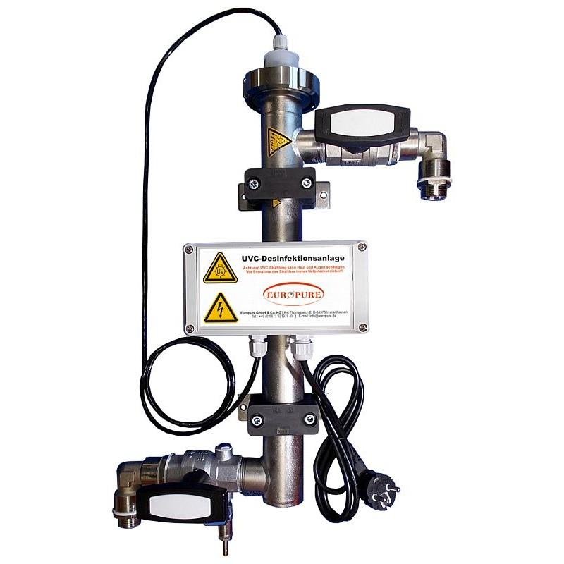 UVC Inline-Desinfektionsanlage 1m³/h